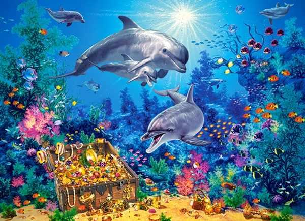 В-030149 Семья дельфинов,300 деталей