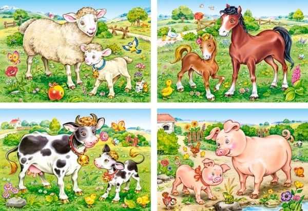 В-04416-NEW Домашние животные, 8,12,15,20 деталей