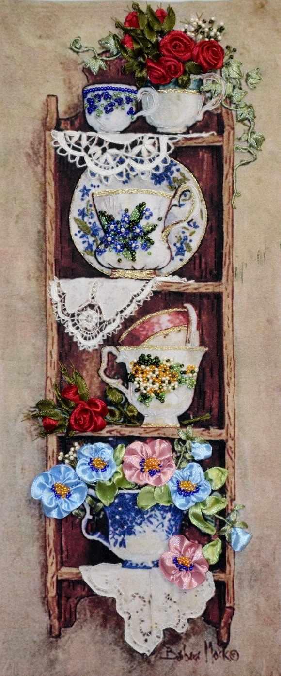 049-100 Полочка с цветами (РЛ)