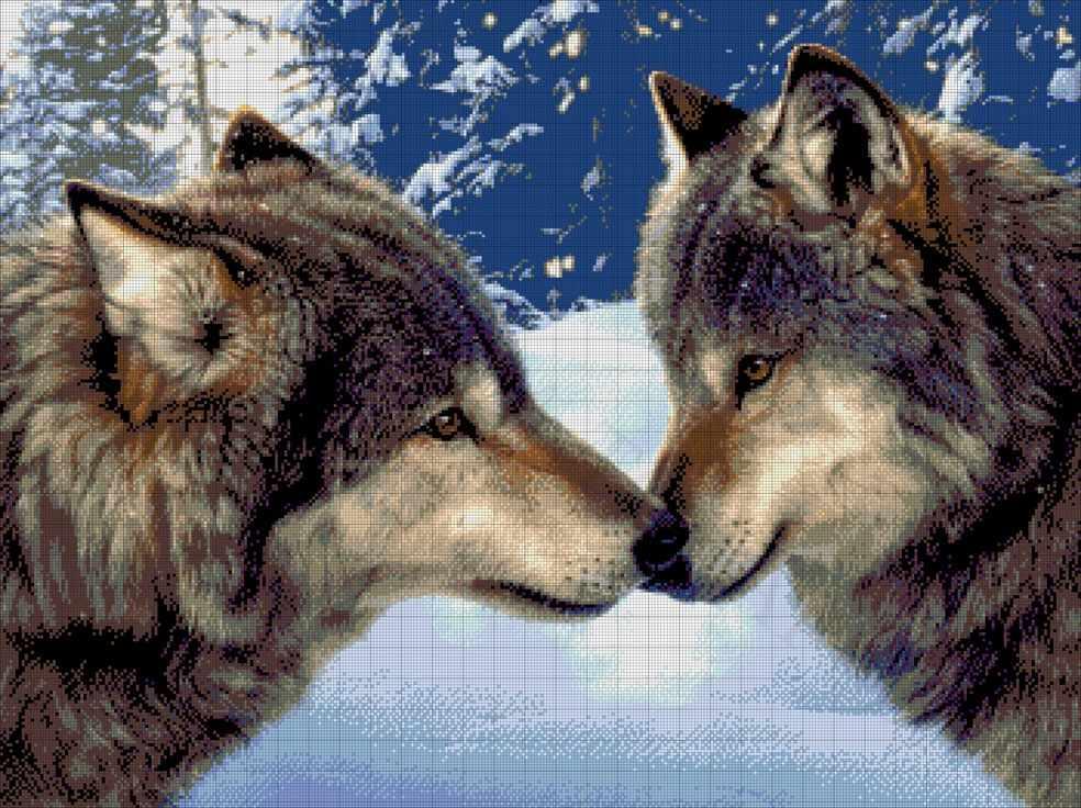 28-3018-НП Пара волков - набор для вышивания