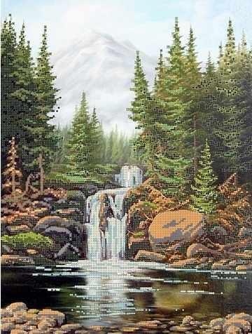 51443 Камни и водопад