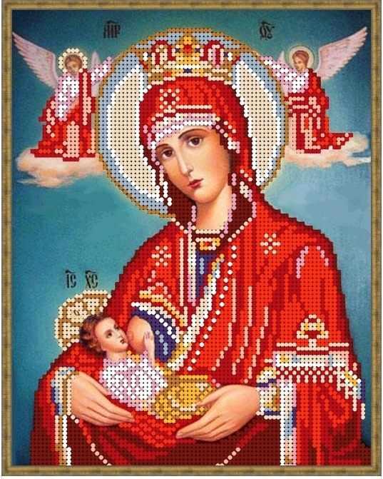 Б-4337 - Пр. Богородица Млекопитательница-2 - схема для вышивания (Алёшкина любовь)