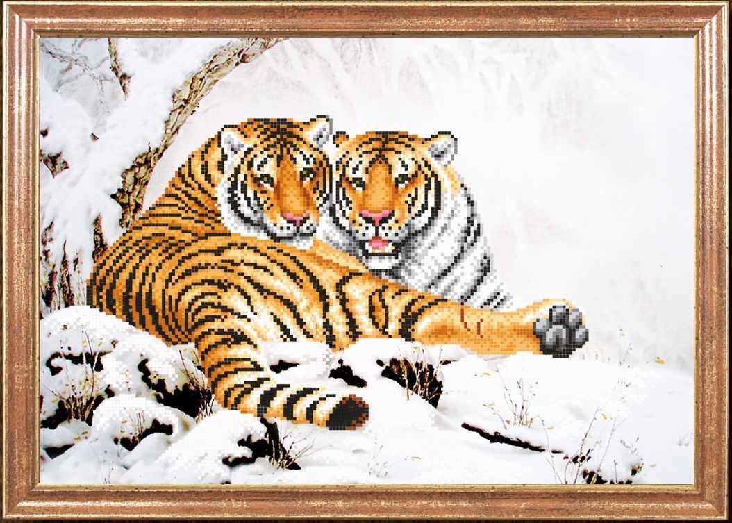 КС-103 Тигры зимой - схема для вышивания (Магия канвы)