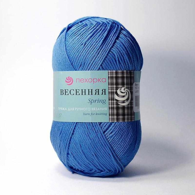 Пряжа Пехорка Весенняя Цвет.15 Т.Голубой