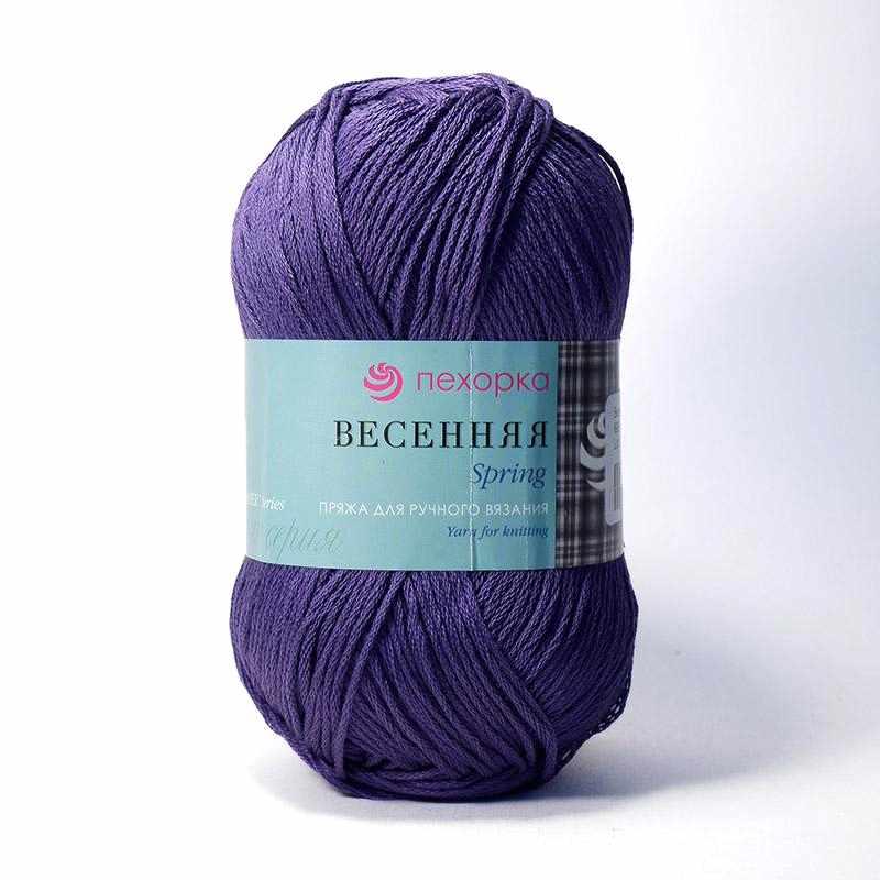 Пряжа Пехорка Весенняя Цвет.698 Т.фиолетовый