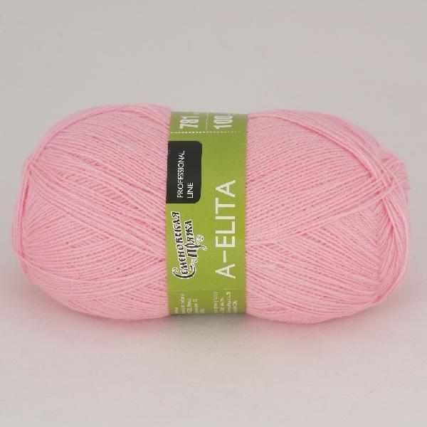 Пряжа Семеновская A-elita Цвет.79 Ярк.розовый