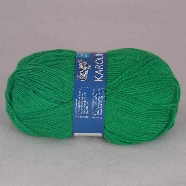 Пряжа Семеновская Каролина Цвет.Ярко зеленый 47