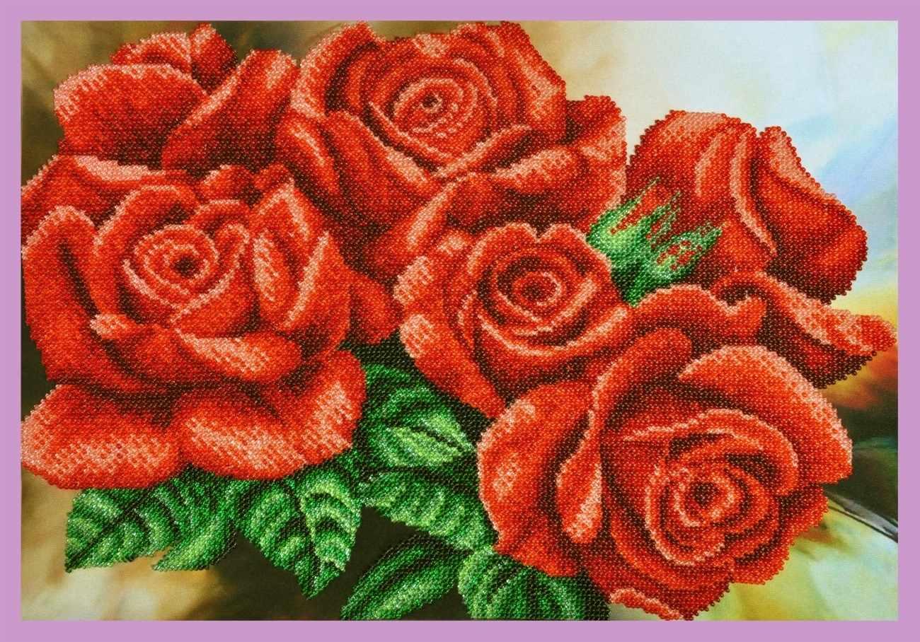 """Р-295 """"Красные розы"""" - набор для вышивания"""