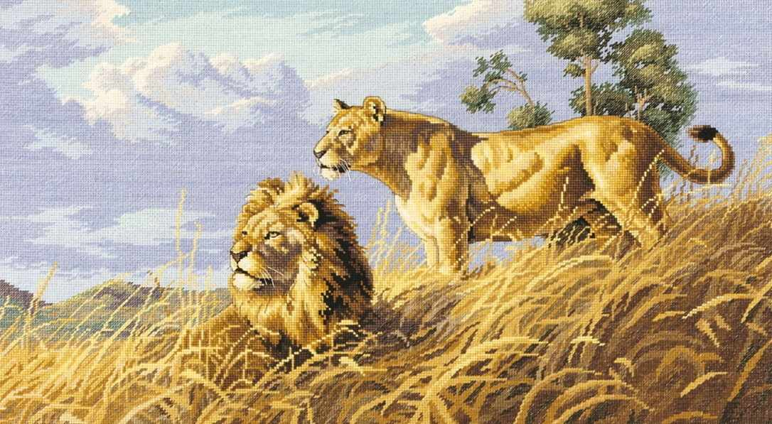 4400 Львы в саванне