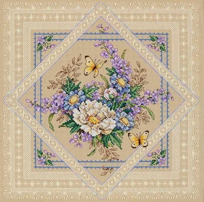4407 Ажурные цветы