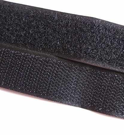 Липучка 25 мм черный