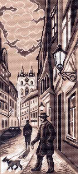 1432 Старый город - рисунок на канве (МП)