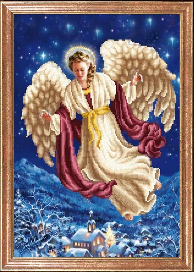 КС-106 Ангел над городом - схема для вышивания (Магия канвы)