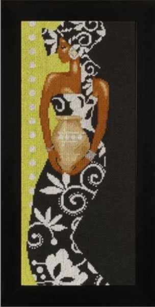 35136 African Lady with Vase