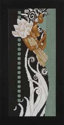 PN-0008187 Африканская женщина с цветами