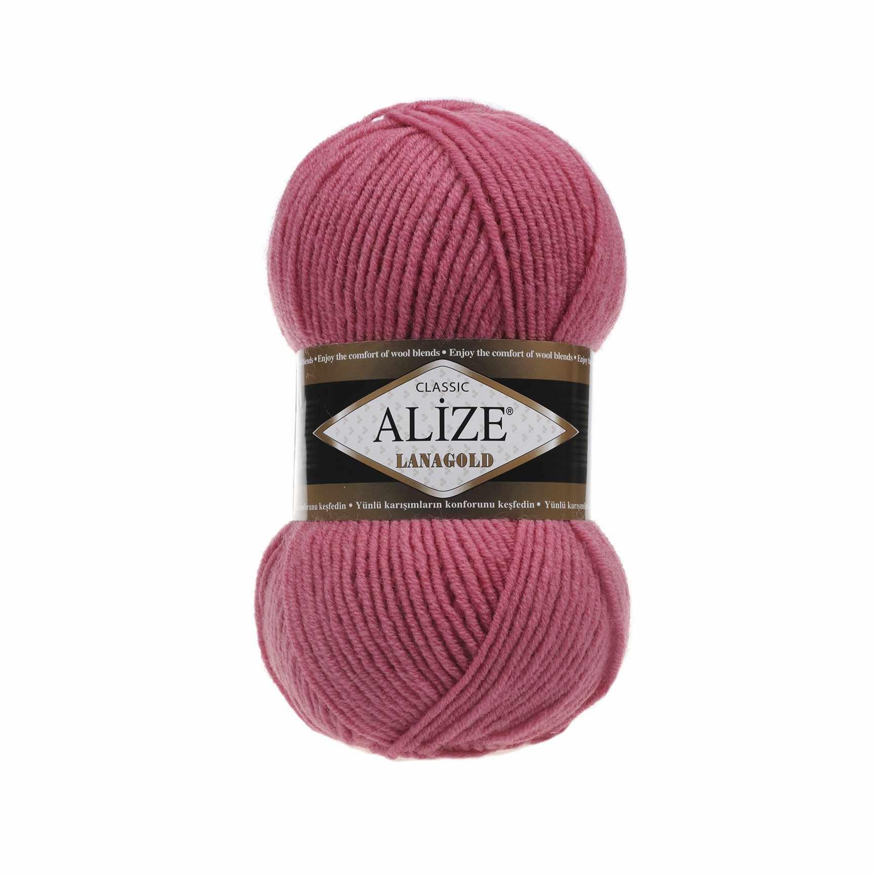 Пряжа Alize Lana Gold Цвет.359 Т.Роза