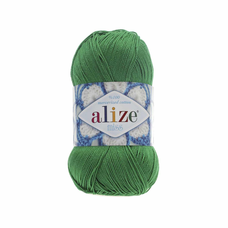 Пряжа Alize Miss Цвет.123 Ярко зеленый