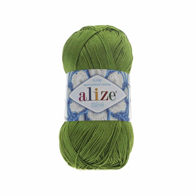 Пряжа Alize Miss Цвет.479 Зеленый