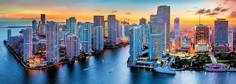 29027 Майами в сумерках, 1000 деталей, панорама