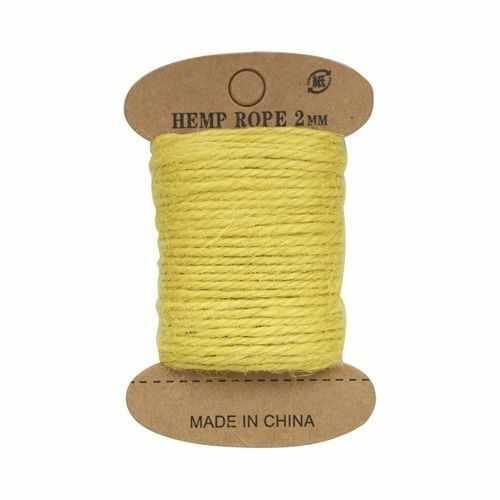 Джутовая веревка  (желтый)