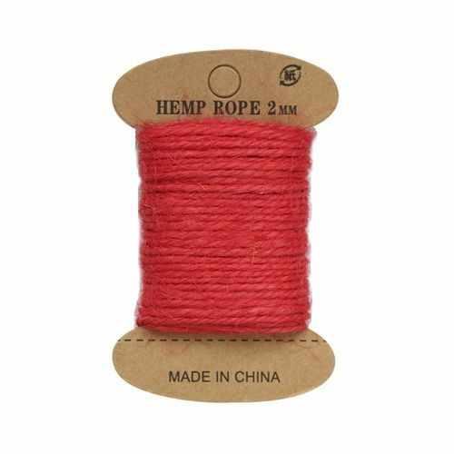 Джутовая веревка  (красный)