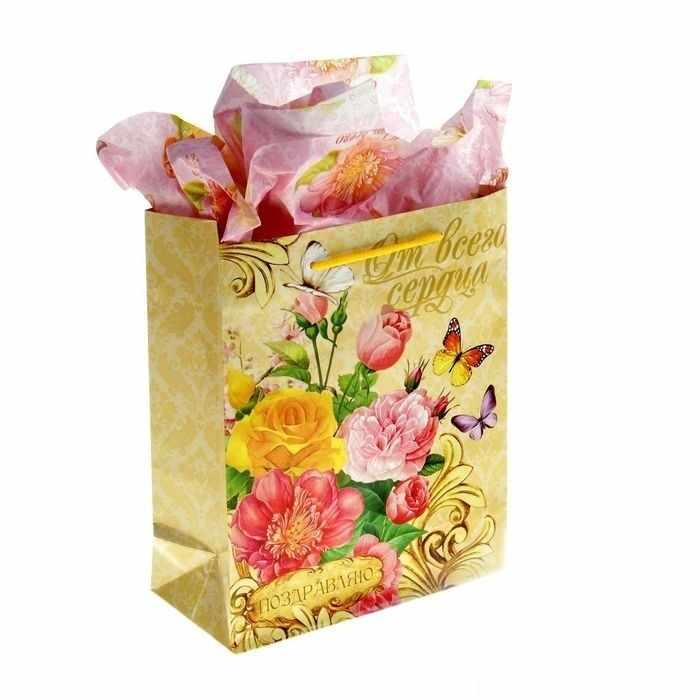 "865750  Набор для упаковки подарка ""Летний сад"""
