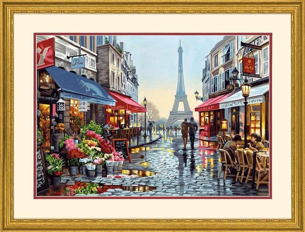 """91651 DMS """"Цветочный магазин в Париже"""" -  раскраска"""