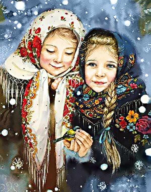 Алмазная вышивка Ag093 Русские красавицы - мозаика