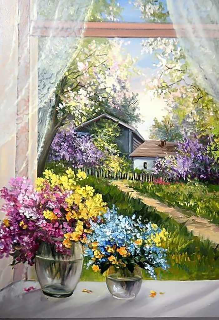 Алмазная вышивка Ag102 Деревенский сад - мозаика