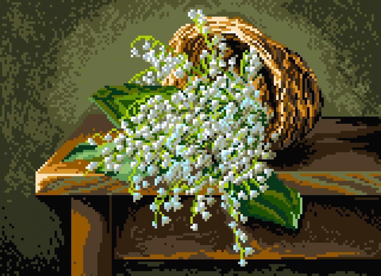 1885 Благоухание весны - рисунок на канве (МП)