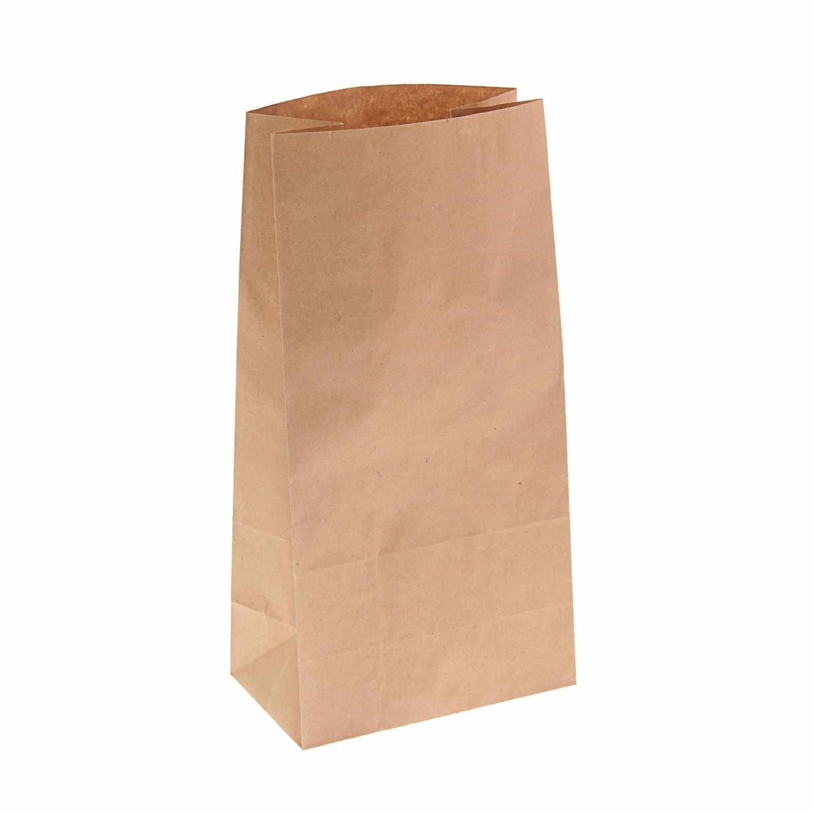 1225528 Пакет крафт бумажный фасовочный, 16 х 9,5 х 32 см