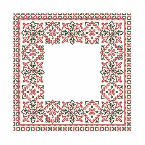 ККС/хб/- 010 Заготовка для салфетки - схема для вышивания (Каролинка)