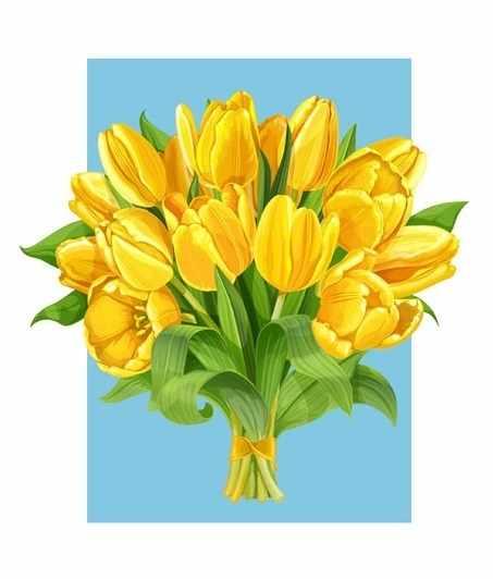П1 Букет желтых тюльпанов