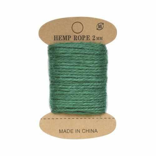 Джутовая веревка (зеленый изумруд)
