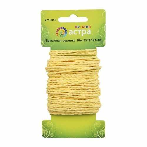 Бумажная веревка Астра креатив (7 светло-желтый)