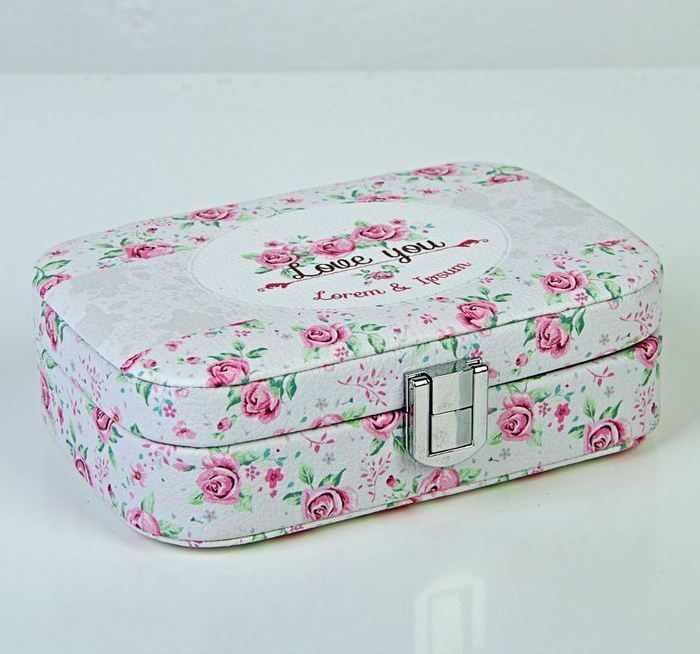 """2266348 Шкатулка кожзам для украшений """"Розовые розы. I love you"""""""