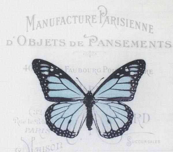"AM650008 Купон с рисунком ""Бабочка синяя на сером фоне"""