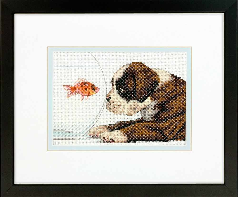 65169 DMS Щенок и рыбка