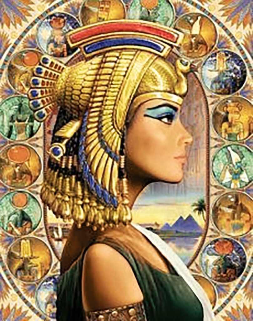 Алмазная вышивка Ag6033 - Царица Египта - мозаика