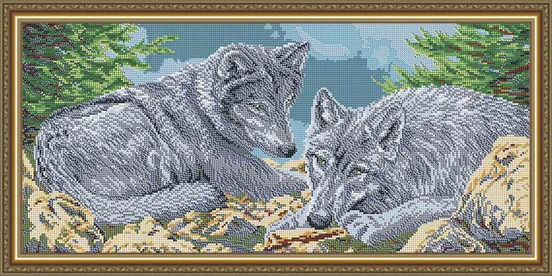 """VKA3102 """"Волки"""" - схема для вышивания (Art Solo)"""