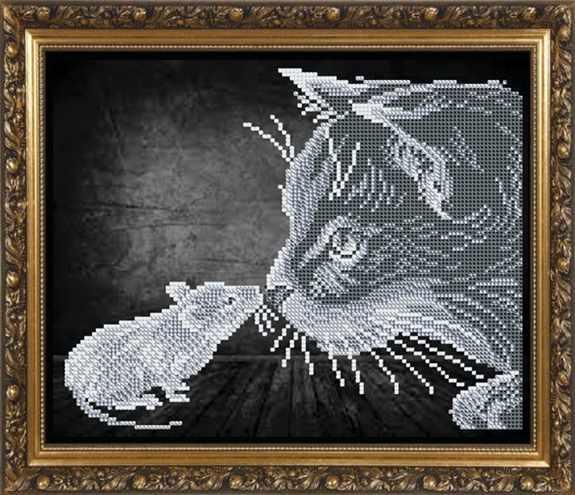 """VKA4056 """"Кошки-мышки"""" - схема для вышивания (Art Solo)"""