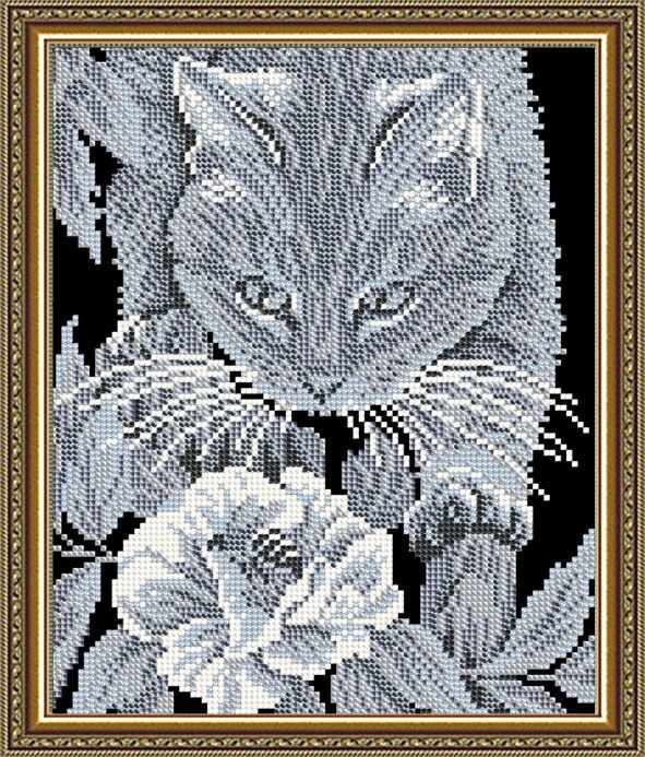 """VKA4060 """"Кот и пчела"""" - схема для вышивания (Art Solo)"""