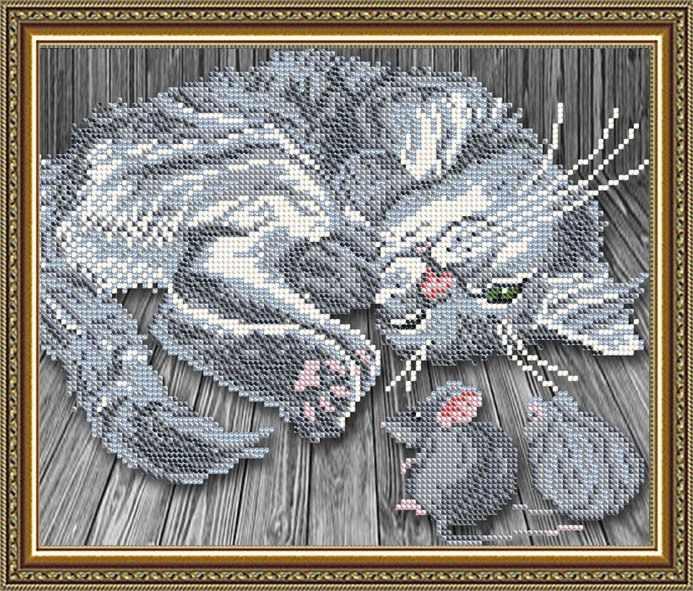 """VKA4062 """"Тише мыши"""" - схема для вышивания (Art Solo)"""