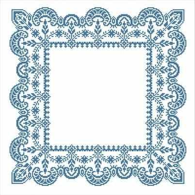 ККС/хб/ бязь - 001 Заготовка салфетки крестом - схема для вышивания (Каролинка)