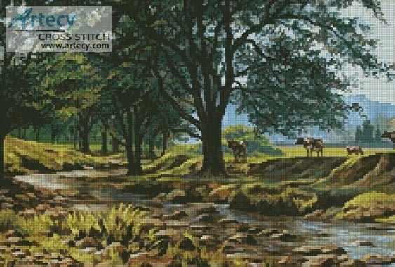 20557 Коровы у ручья