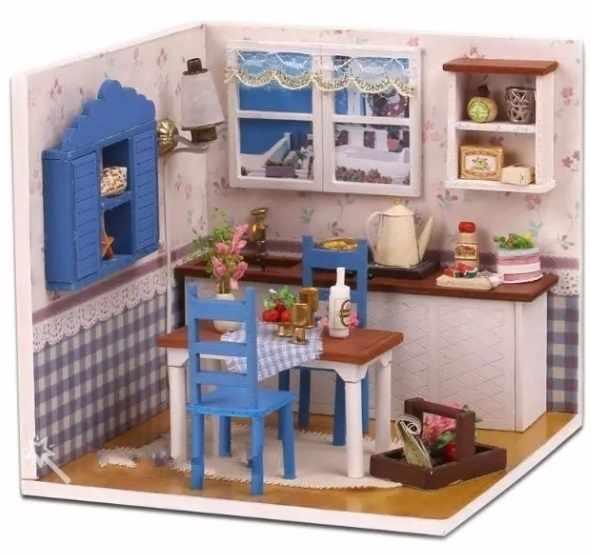 MI-000044 Уютная кухня в деревенском стиле
