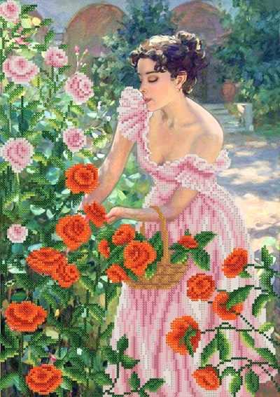 РКП-642 Свежие розы - схема для вышивания (Марiчка)
