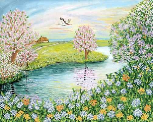 РКП-649 Цветущая весна - схема для вышивания (Марiчка)