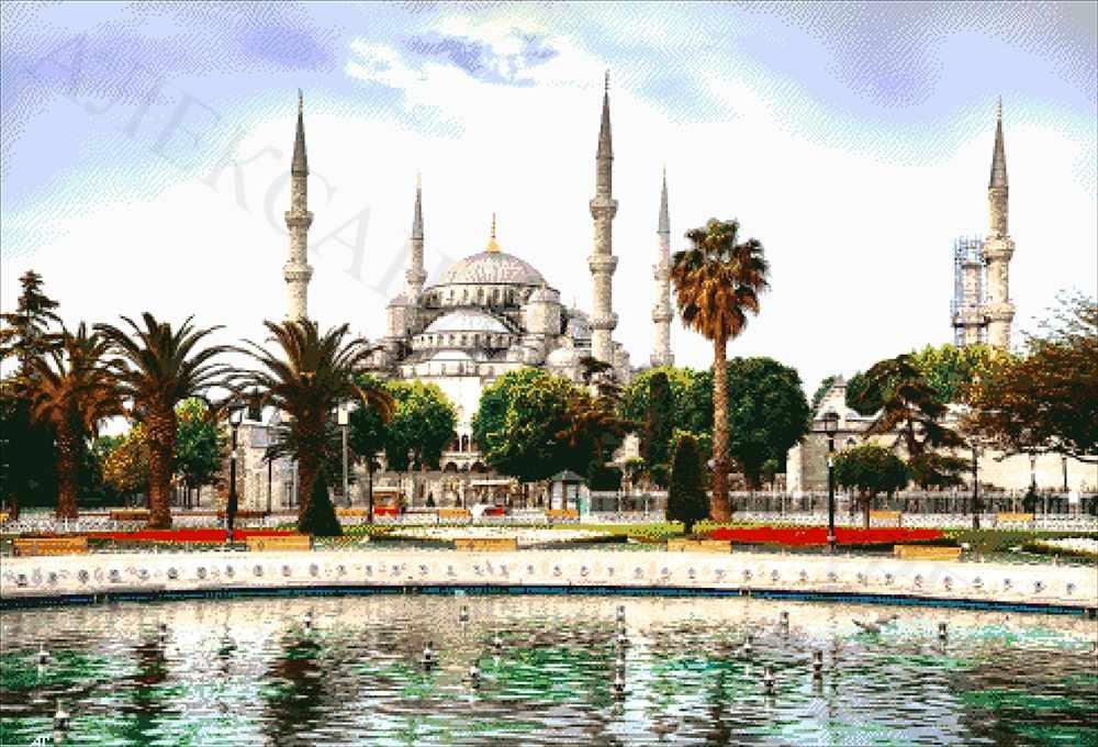 41-5429 Голубая мечеть - набор для вышивания (А. Токарева)