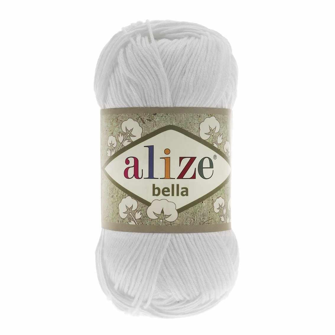Пряжа Alize Bella Цвет.55 Белый
